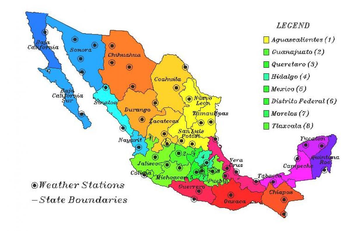 México mapa tempo - Tempo o mapa do México (América Central - América)