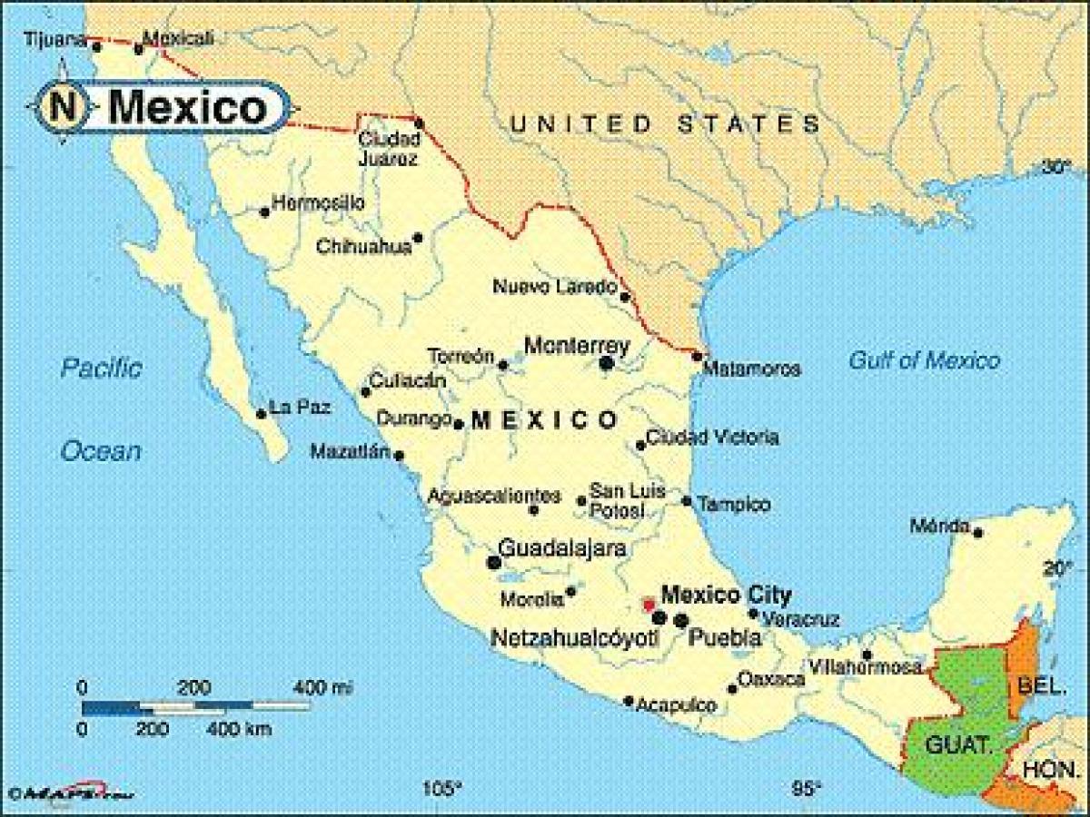 mapa do mexico Mapa do México, cidades costeiras do México cidades costeiras mapa  mapa do mexico
